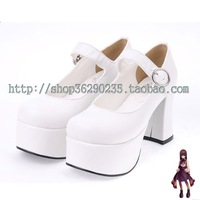 Hot-selling 2013 lolita shoes punk shoes the queen shoes thick heel one strap shoes 6016a