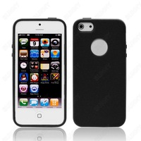 DHL Free Shipping Bulk Wholesale 2 Piece Hybrid Case TPU Rugged Back PC Frame Case Cover For Apple iPhone 5S 5G 5