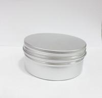 Primary color 250g cosmetics aluminum case screw aluminum cap 250ml metal cans cream box