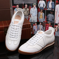 The new top-end men's pure leather Spring / casual shoes / everyday casual lace Skateboarding Shoes Sneakers