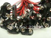fast shipping BT snap connector for 9V battery with plastic case ,100-150mm 24# wires ,500pcs/lot