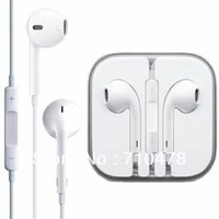 EJ2  Free Shipping 100% Brand New Newest EarPods Earphone Headphone With Remote & Mic For Apple IPhone 5 5G In Box Gift