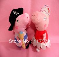 19cm Brinquedos 2PCS Pirate & Ballet Peppa Pig High Quality  Peppa Pig Cute Toddler Toys Dolls & Stuffed Toys Plush Toys