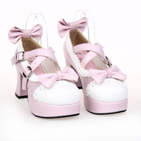lolita shoes single shoes bow dress shoes princess shoes 9829 heel height  7.5cm