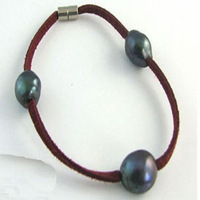 Free Shipping 5pieces/lot Big Pearl Bracelet with Dyed Colour Megnetic Clasp Very Simple Cool Bracelet Jewelry