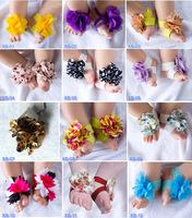 Baby girls Barefoot Sandals Shoes Flower Design Baby PreWalker Infant Toddler Shoes