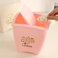 Good Quality Household tube storage bucket desktop plastic health bucket mini garbage bucket 33878  little gifts