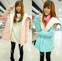 2013 free shipping  winter large thickening wadded jacket outerwear women's outerwear loose cotton-padded coat
