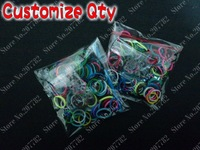 (100 Pcs Bands+6 Pcs S Clips)Loom Bands Refills Rainbow Rubber Bands Looms For DIY Bracelet
