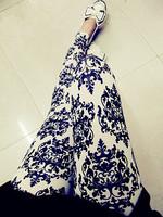 9731 black-and-white vintage print legging leggings ankle length trousers