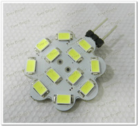 30PCS/ lot Super Bright G4 Led 5730 12SMD 12 Led DC 12V Home Light RV Marine Lamp Mini Light Bulbs