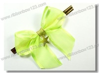 Gold star twist tie bow