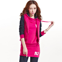 Piece set sweatshirt set Women fleece thickening with a hood fashionable casual sports sportswear