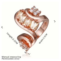 New Arrival 18K Gold Plated Ring,Fashion Jewelry Ring,18K Rhinestone Austrian Crystal Ring Men Women Wedding Rings SMTPR441