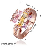 New Arrival 18K Gold Plated Ring,Fashion Jewelry Ring,18K Rhinestone Austrian Crystal Ring Men Women Wedding Rings SMTPR445