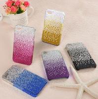 Free shipping new gradient color diamond phone beauty diamond paste shell phone
