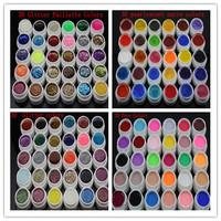 2013 new 120 Mix color vu gel nail polish Pure+Glitter Paillette+ Glitter+pearlescent nacre colors nail art uv gel set gel kit
