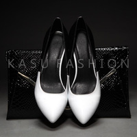 763 women's shoes ol fashion work shoes pointed toe high-heeled first layer of cowhide genuine leather single shoes