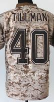 Cheap Wholesale Arizona 40# Pat Tillman Jersey Football Digital Camo Jerseys Salute to Service Camouflage Sewn On