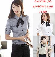 women 2014 summer work wear  OL outfit half sleeve shirt camisas femininas free shipping top women chiffon blusas mujer fashion
