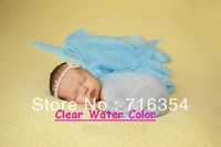 10pieces/lot 110cm Long 100% Cotton Grade 60 Newborn Baby Photo Props Dyed Cheesecloth Wrap Infant Cheese Cloth