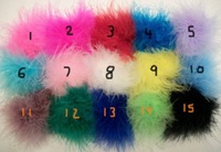 mix colors! 100pcs free shipping Newest Feather Marabou Puff The girl hair bow Hair accessories