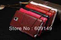 50pcs/lot Free shipping 6colours High grade Fine sheep Heat setting stand leather case cover for samsung galaxy note 3 N9000