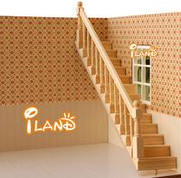 iland Dollhouse Wooden Stair Stringer Step Left Handrail Handrail Houseworks OA012