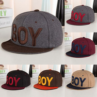 2013 boy autumn and winter male women's woolen baseball cap casual warm hat