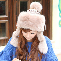 Hat female winter fashion northeast cap lei feng cap thermal winter hats ear protector cap knitted hat