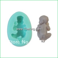 New Soft Silicone Cake Mold Fondant Decorating Sleeping Baby Shape Soap Mold