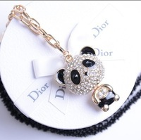 [77 Queen]free shipping wholesale CJ034 Panda drill fashion necklace sweater chain necklaces & pendants men jewelry 2013 women