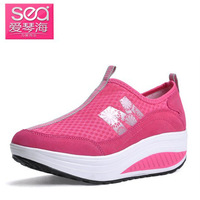 Aegean swing shoes body shaping shoes new arrival 2013 gauze sport shoes platform elevator women's casual shoes