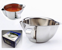 High Quality western style 18/10 304 mirror polishing Stainless steel Gravy seperator Sauce boat soup pot