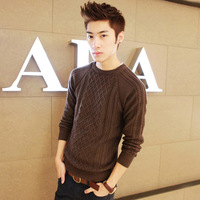 E men's autumn and winter clothing twisted knitted pullover sweater male male slim sweater