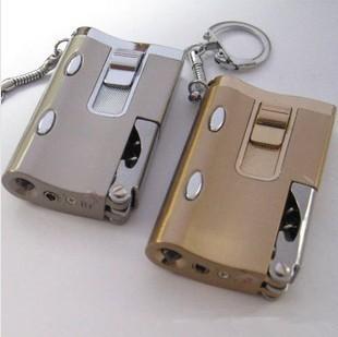 Six ecumenical multifunctional windproof lighter flashlight money detector light red wine beer key chain(China (Mainland))