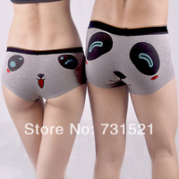 Cartoon bear cat-eye boxer panties male women's sexy modal panties lovers underwear