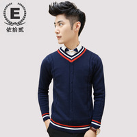 E men's autumn and winter clothing male slim casual sweater pullover sweater male sweater male