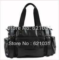 New 2013 Shoulder Of The Mens Bag Messenger bag to  Sport Bag Casual Transparen bag.Good Quality PU Leaather Bag Free Shipping