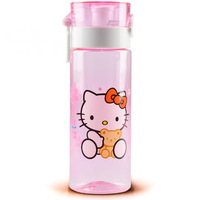 Free shipping, 2014 New arrive Cartoon water bottle Hello kitty space cup Plastic bottle for children Outdoor travelling bottles