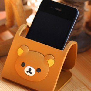 SUPER FASHION lovely Rilakkuma FOR the iphone4 / iphone 4s mobile phones collapsible support /holder/stand(China (Main