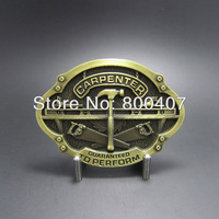 Wholesale Retail Antique Bronze Plated Carpenter Trades Belt Buckle BUCKLE-WT121AB Belt Buckle Fast Delivery Free Shipping