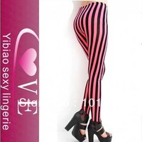Red printing legging Stripe Leggings