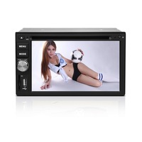 2 Din 6.2 Inch Universal Car DVD Player  TV  Buletooth MP3 FM/AM GPS  map card Radio AUX Touch sceen