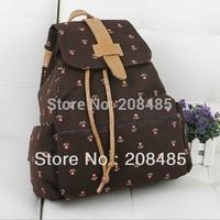 Fashion Cute Flower Women New Fashion Cute Canvas Shoulder Bag Backpack 4 Colors Sim