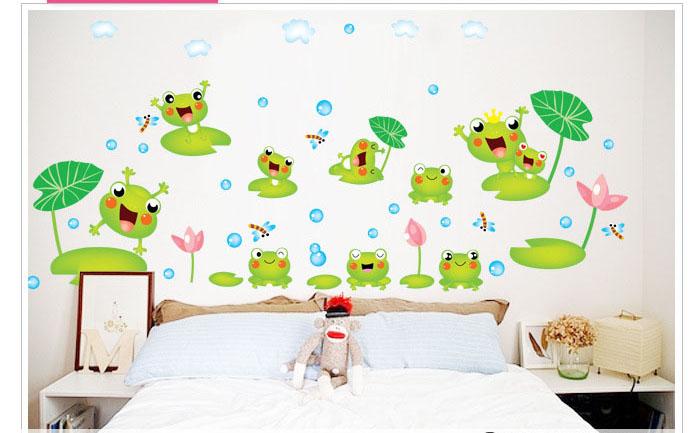Online kopen wholesale kikker muur stickers uit china kikker muur stickers groothandel - Muur deco volwassen kamer ...