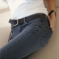 2013 slim pencil jeans women plus size elastic long trousers
