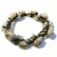 4pcs/lot flower headand garland for wedding Bridal Wreath artificial fabric flower hair accessory HC304