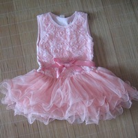 1pc retailer baby girl dress chevron dress summer lace rose rress kids clothes free shipping