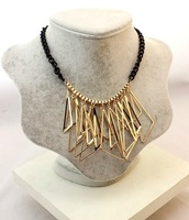 ZH0782(min mix order $10 free shipping ) 2013 New metal hollow triangle pendants necklace for women's ivy fashion store